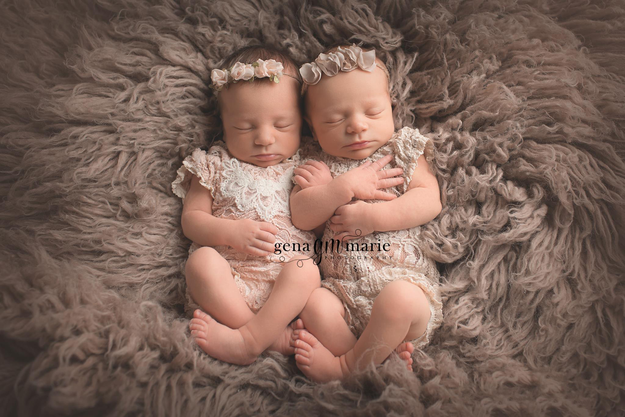 Newborn twin girls dc newborn photographer